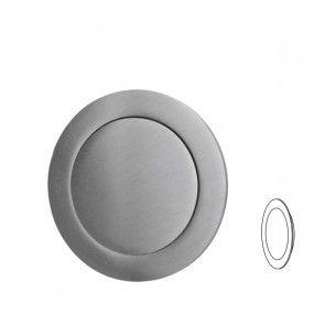 Ronde inbouw schuifdeurgreep - indrukbaar - RVS 304 -  diameter 50 x hoogte 19 mm PEH36 6326IN
