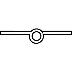 Scharnier messing gepolijst 60mm (met sierkop) Recht, Aanslag: rechts