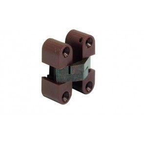 Scharnier bruin zwart 11x33mm Om te schroeven, voor houtdikte vanaf 16mm