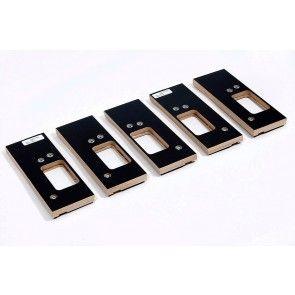 Enkelvoudige freesmal 89 x 89 scharnier LINKS Voor 1 scharnier in kozijn en deur