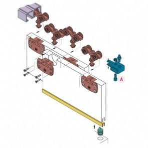 Schuifdeurkast systeem 1050 - inliggend 80 Kg