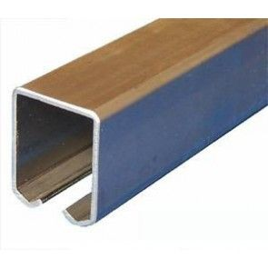 Schuifdeur rail - staal verzinkt - L=600 cm - Maximale belasting 600 Kg/meter