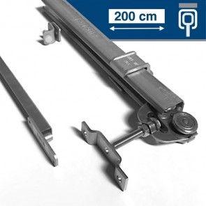 Compleet ophangsysteem schuifdeur max 200 cm breed - PLAFONDmontage - rail lengte 400 cm