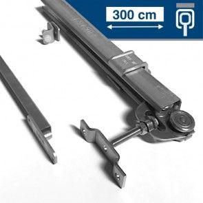 Compleet RVS ophangsysteem schuifdeur max 300 cm PLAFONDmontage rail