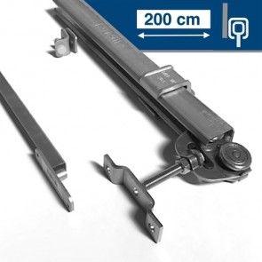 Compleet ophangsysteem schuifdeur max 200 cm breed- WANDmontage - rail lengte 400 cm