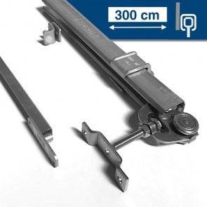 Compleet ophangsysteem schuifdeur max 300 cm breed - WANDmontage - rail lengte 600 cm