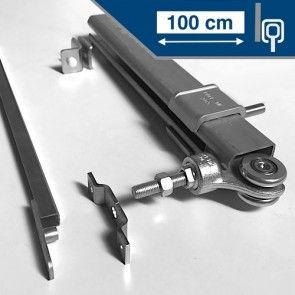 Compleet ophangsysteem schuifdeur max 100 cmWANDmontage rail