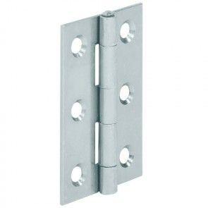 Bladscharnier staal verzinkt - 40x26 mm - geklonken stift - productafbeelding - 354.01.924
