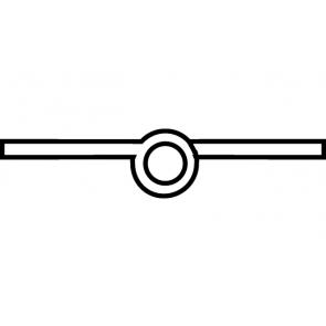 Scharnier messing gepolijst 50mm Recht, Aanslag: rechts