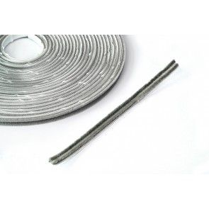 Stofborstel op ROL - kleefbaar - grijs 10 mm breed - haarlengte 4.5 mm - lengte 10 meter