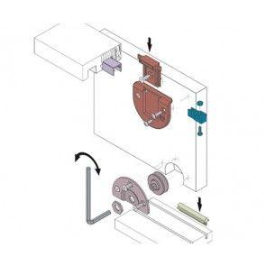 Voorbeeld set - Schuifdeurkast systeem 0105 inliggend - onderlopend - max 60 Kg per paneel