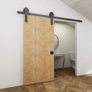 Voorbeeldset TEHO schuifdeursysteem - zwart - 200 cm - voor een deur van 100 cm breed