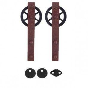 Teho ophangset - roest bruin staal - max 125 Kg - met 2 anti-jump producten en 1 vloergeleider inbegrepen