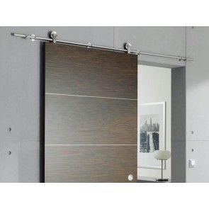Design ophangset 70V voor houten schuifdeur tot 70 Kg