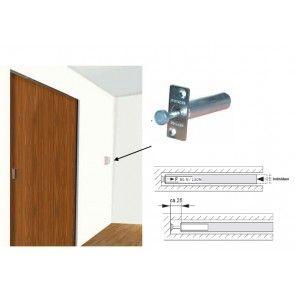 Veerbuffer schuifdeur - druk op de schuifdeur en deze komt uit de wand / sparing