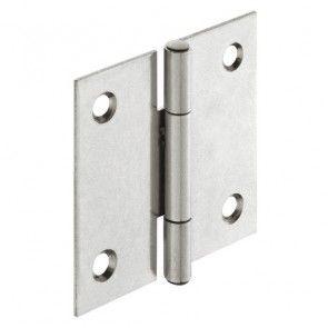 Bladscharnier staal verzinkt - 25x22 mm - geklonken stift - productafbeelding - 354.02.903
