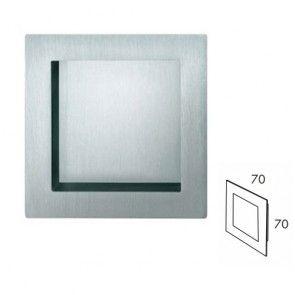 Vierkante inbouw schuifdeurgreep - open - RVS 304 - Lengte 70 x Breedte 70 x Hoogte 19 mm PEH36 1440IN70