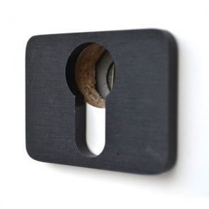 Xinnix serie 001 cilinderslot garnituur - zwart