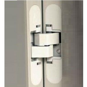 X4030 inboor deurscharnier met witte afdekkapjes Max deurgewicht 60 Kg bij drie scharnieren