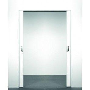 X5 schuifdeursysteem 231 x 2x123 cm XINNIX dubbele deur Profiel 75 mm - wanddikte 100 mm