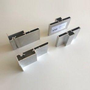 Verticale profielen - dubbele beplating tot maximaal 32mm dik per zijde - deurhoogte max 4400mm