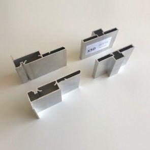 Verticale profielen - dubbele beplating deurhoogte max 3015 - deurbreedte max 1030 mm