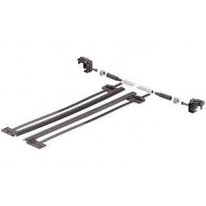 Zijstabilisering Tandem 30 & 50 Kg ondiepe en brede lades (B> 600 mm) Ladelengte 411 mm - 600 mm