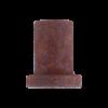 Wandmontagesteun voor schuifdeur - roest - lengte 3,5 cm - deurdikte max 4 cm