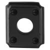 Klassiek rechthoekig rozet - gietijzer zwart - 59x48x6mm