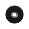 Rozet rond - zwart RVS - 50 x 8 mm
