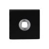 Rozet vierkant - zwart RVS -  50 x 50 x 8 mm