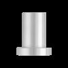 Wandmontagesteun voor schuifdeur - RVS - lengte 3,5 cm - deurdikte max 4 cm