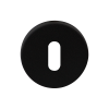 Sleutelrozet rond - zwart RVS - 50mm diameter