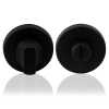 Toiletgarnituur rond - zwart RVS - 50mm diameter