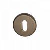 Sleutelrozet rond - mat brons afgewerkt - 51mm diameter