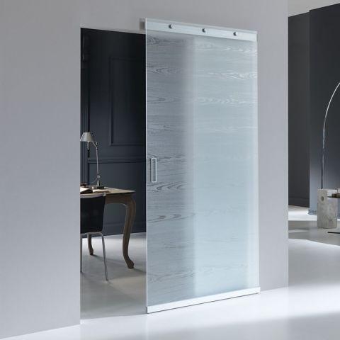 Uniek Schuifdeursysteem voor glas | Schuift strak langs muur | demping naar beide zijden | Evt. met voorbewerkt glaspaneel | Voor 22:00 besteld morgen in huis