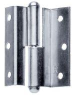Scharnier staal vernikkeld mat 50mm Bocht, Aanslag: links