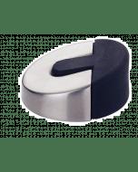 Deurstopper rond - mat RVS Rond 60 mm x 24 mm hoog