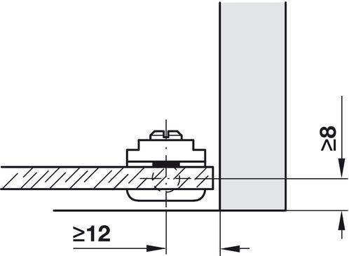 Montage glasdeurscharnier 361.69.311