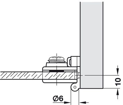 Montage glasdeurscharnier 361.97.300
