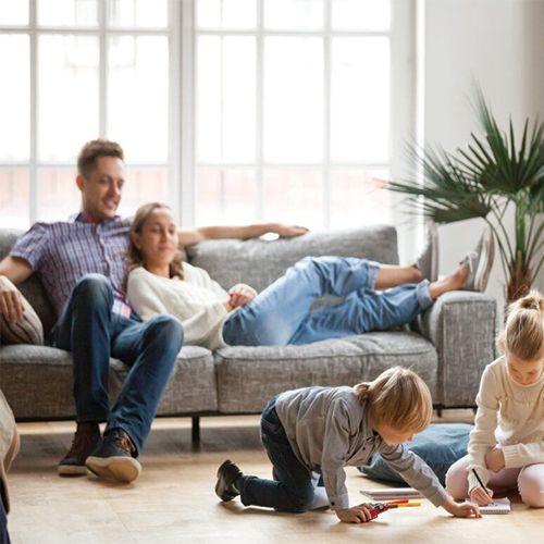 familie woonkamer sfeer deuren