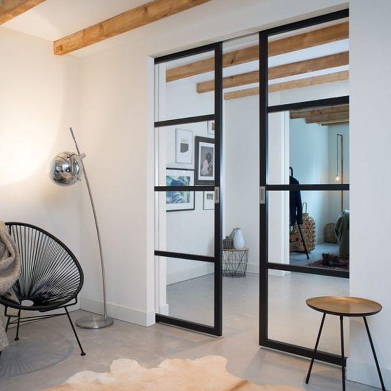 Schuifdeur met glas dubbel woonkamer