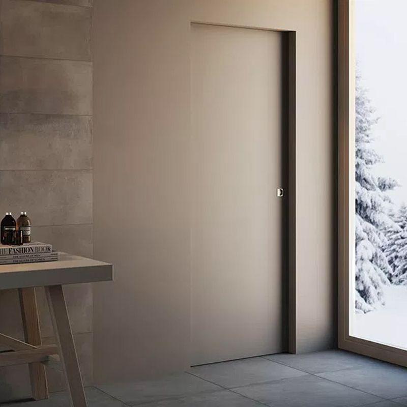 Schuifdeur dicht woonkamer naar badkamer