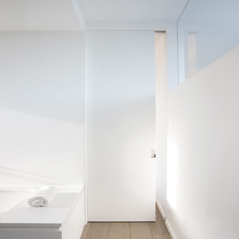Schuifdeur in badkamer onzichtbare schuifdeur