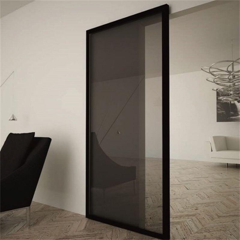 schuifdeur onzichtbaar glas zwart
