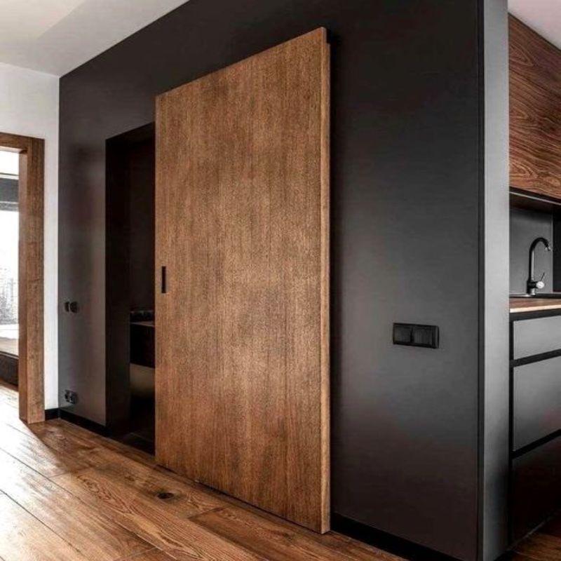 schuifdeur onzichtbaar hout keuken hal