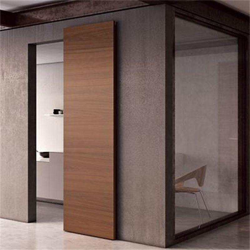 schuifdeur onzichtbaar hout voor wand
