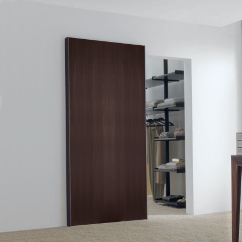 schuifdeur onzichtbaar hout walk in closet