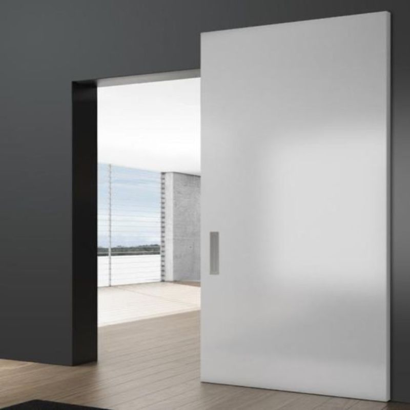 witte schuifdeur onzichtbaar