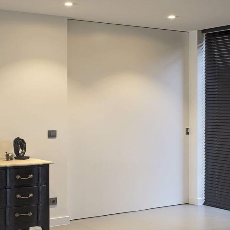 strakke schuifdeur modern plafond
